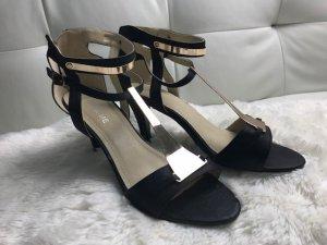 Sandalen met bandjes zwart kunststof
