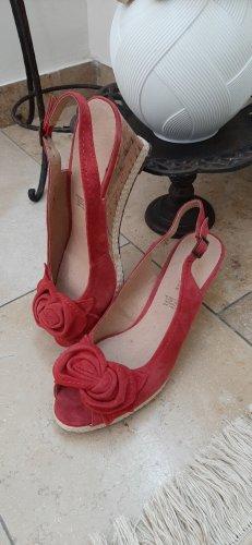 5th Avenue Platform Sandals dark red-bordeaux