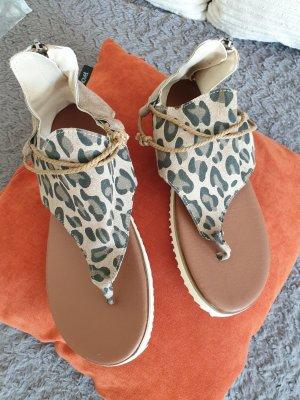 Sandały japonki z rzemykami czarny-piaskowy brąz