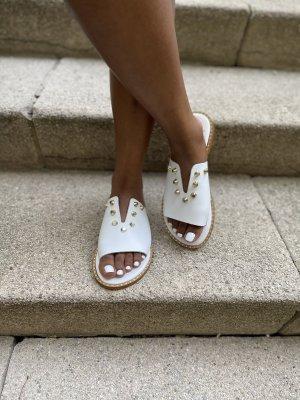 Comfortabele sandalen wit Leer