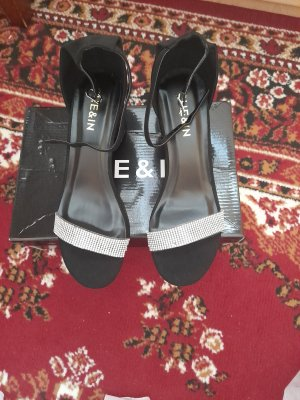 Sheinside Sandales à talons hauts et plateforme blanc-noir