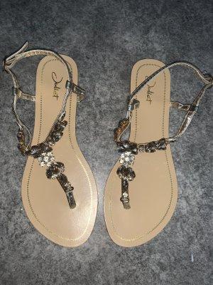 Outdoor sandalen beige-zilver
