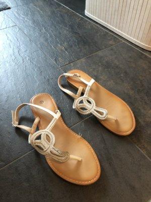 Sandalo toe-post bianco