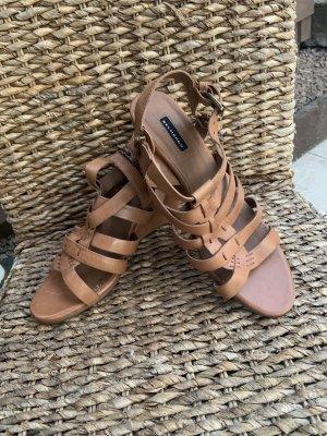 Belmondo Plateauzool sandalen bruin-cognac