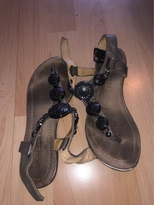 Buffalo Strapped Sandals silver-colored