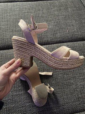 100% Fashion Sandales à plateforme beige clair