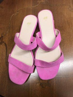 H&M Strandsandalen roze-neonroos