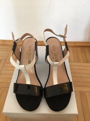 Sandales à plateforme blanc-noir