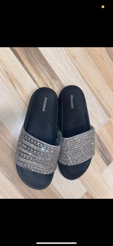 Sandales confort argenté