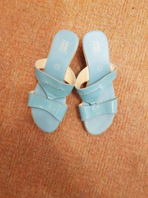 Andrea Conti Sandały na platformie baby blue