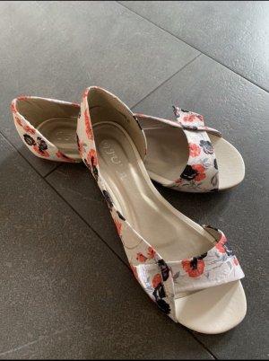 Sandały japonki biały-ciemny pomarańcz