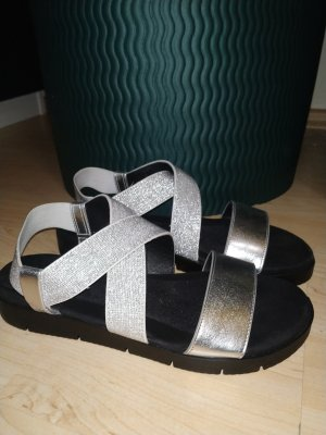 Comfort Sandals black-silver-colored