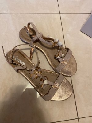 carina Comfortabele sandalen roségoud-beige