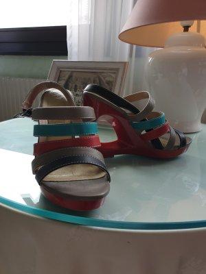 3 Suisses Sandalo con plateau multicolore