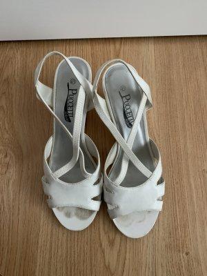 Puccetti Sandales à plateforme blanc-argenté