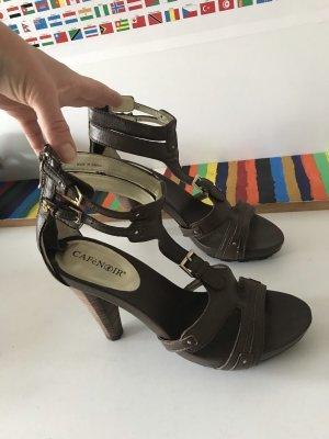 Café Noir Platform Sandals brown-dark brown