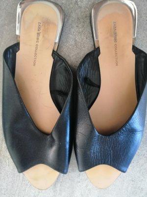 Zara Woman Claquette noir cuir