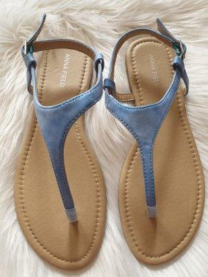 Anna Field Sandalo toe-post azzurro-azzurro