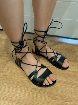 Asos Roman Sandals black leather