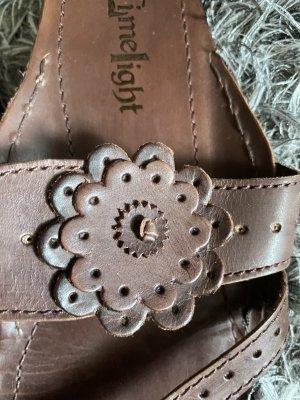 Sandalen aus echtem Leder, Gr. 39, ein Mal getragen
