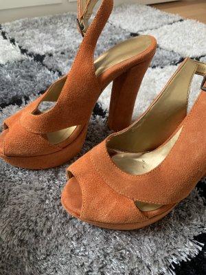 Catwalk Sandały na platformie pomarańczowy