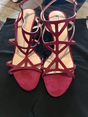 Giorgio  Armani T-Strap Sandals magenta leather