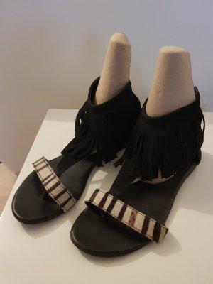 Sandales Salomé à talon haut noir