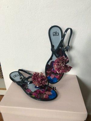 Comfortabele sandalen zwart-paars