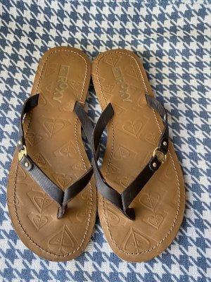 Roxy Sandalias tipo clog marrón arena-marrón Cuero