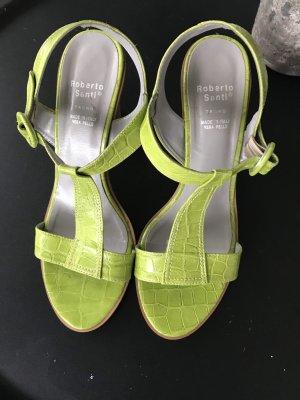 Roberto Santi Dianette sandalen weidegroen
