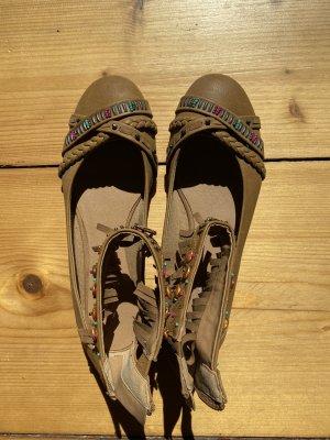 Graceland Ballerines à lacets brun-marron clair