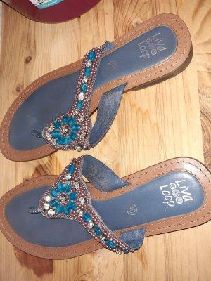 Liva Loop Sandalias Dianette azul aciano