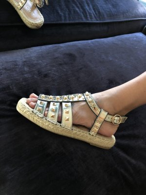 Liu jo Romeinse sandalen zandig bruin Leer