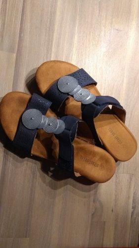 Sandalen blau Gr.38 mit Antistress-Sohle- neuwertig!