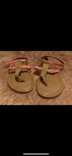 H&M Sandale d'extérieur marron clair-rose fluo