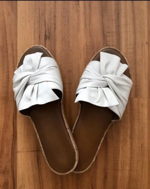 Andrea Sabatini Platform Sandals white-brown leather