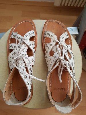 Bronx Sandalo con cinturino e tacco alto bianco sporco