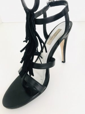 by Malene Birger Strapped High-Heeled Sandals black leather