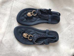 Siketu Beach Sandals dark blue mixture fibre