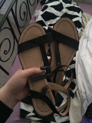 Sandalias de playa negro-beige