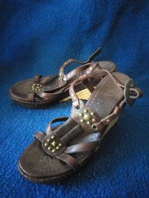 ASH Sandales à talons hauts et plateforme brun-beige clair