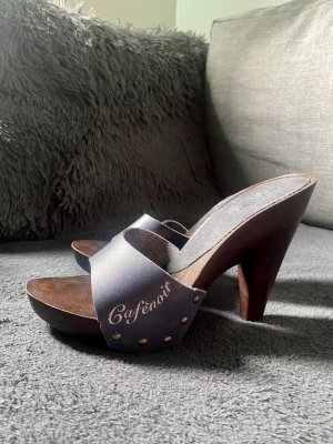 Made in Italy Sandały na platformie ciemnobrązowy-ciemnoniebieski