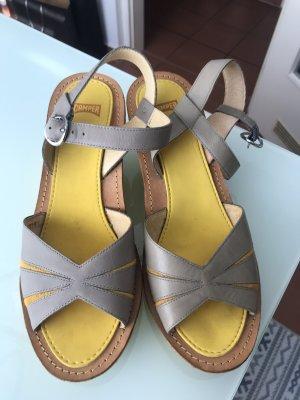 Camper Platform Sandals beige-yellow