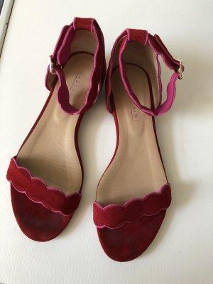 Sandalo con cinturino rosso-rosso lampone