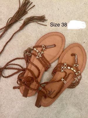 Beach Sandals bronze-colored