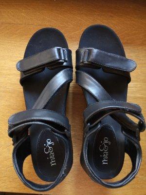 Mia & Jo High-Heeled Toe-Post Sandals black