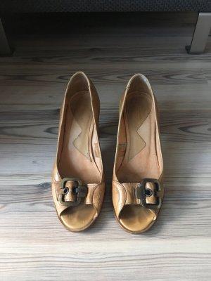 Bianco High Heels cognac-coloured