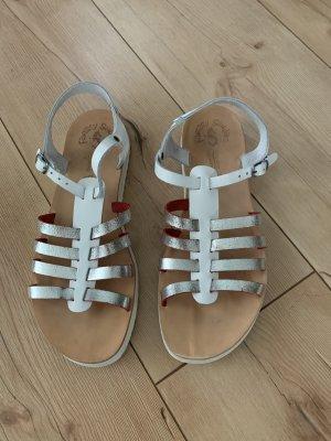 Fantasy Sandalo comodo bianco-grigio chiaro Pelle