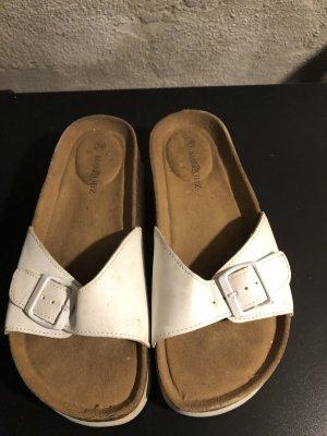 Sandales à talons hauts et plateforme blanc-beige