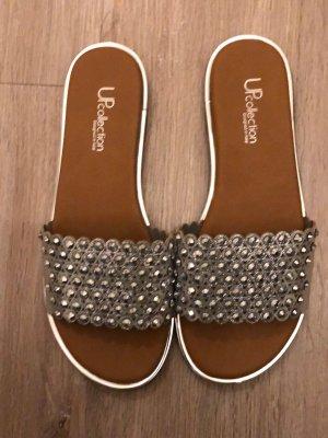 Sandalo outdoor argento Poliestere